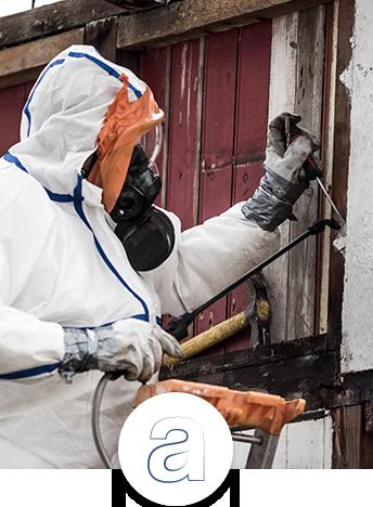 Mesure d'air amiante fin de chantier sur matériaux contenant de l'amiante